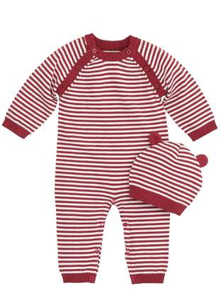 A Pea in the Pod Elegant Baby Red and White Coverall