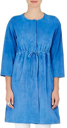 Lisa Perry WOMEN'S SUEDE DRAWSTRING COAT