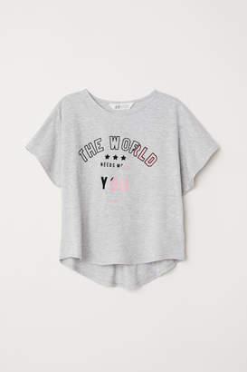 H&M Wide-cut Top - Gray