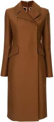 No.21 slim-fit zipped back coat