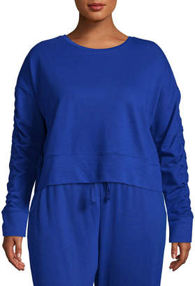 Flirtitude Ruched Sweatshirt - Juniors Plus
