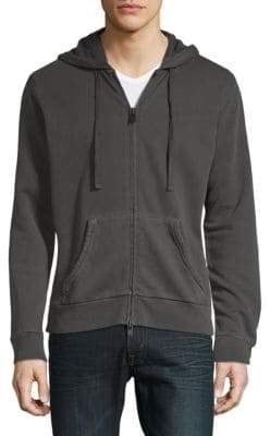 Zadig & Voltaire Moss Overdyed Cotton Hoodie