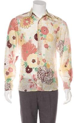 Valentino Silk Sheer Floral Shirt