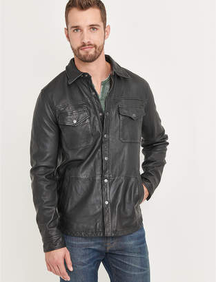 Lucky Brand FEATHERWEIGHT LEATHER JACKET