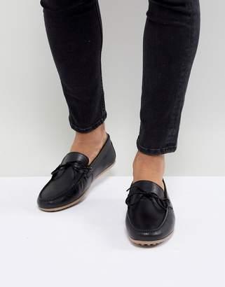 WALK LONDON Walk London Albert Leather Loafers In Black