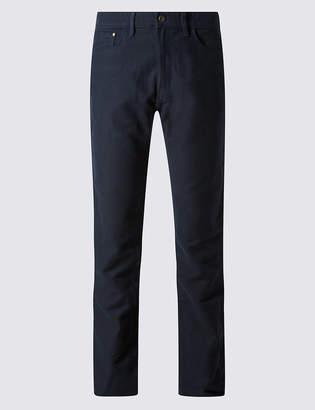 M&S Collection Pure Cotton Regular Fit Moleskin Trousers