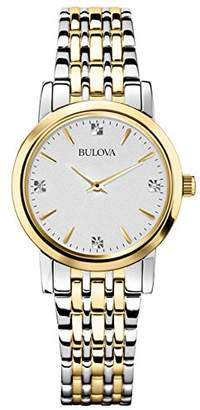 Bulova Women's 98P115 Diamond Accented Silver-Tone Bracelet Watch
