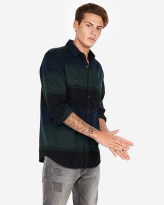 Express Stripe Flannel Shirt