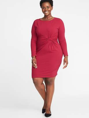 Old Navy Plus-Size Twist-Front Bodycon Dress