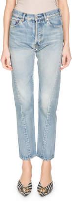 Balenciaga Twist-Hem Straight-Leg Jeans