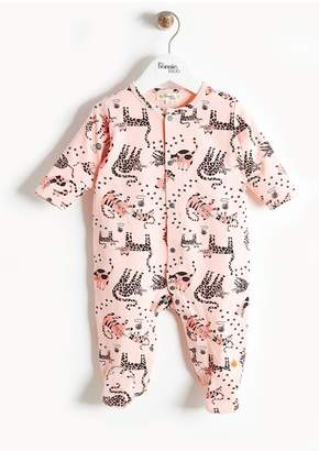 Bonnie Mob Cat Print Footie (Baby Girls)