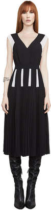 BCBGMAXAZRIA Savannah Colorblocked Pleated Dress