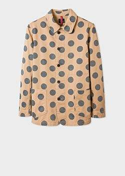 4f0cc155 Men's Camel Polka Dot Cotton Work Jacket