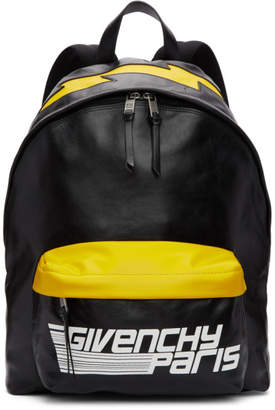 Givenchy Black and Yellow Fast Backpack