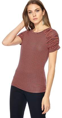 Principles Orange Striped Top