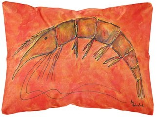 Caroline's Treasures Shrimp Decorative Canvas Fabric Pillow