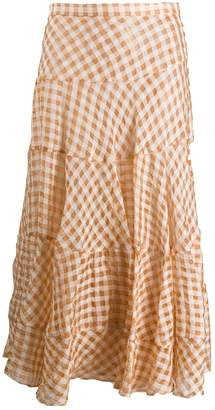 Isa Arfen tiered checked skirt