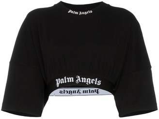 Palm Angels logo cotton crop top