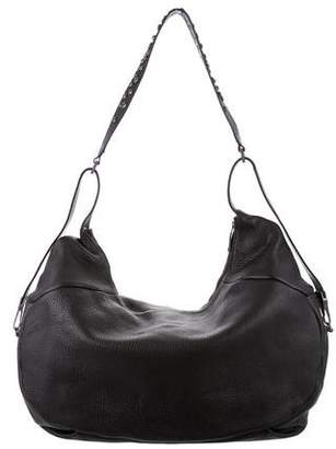 Christian Lacroix Pebbled Leather Hobo Bag
