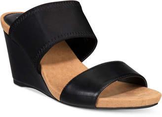 Alfani Women's Step 'N Flex Parrker Slip-On Wedge Sandals, Only at Macy's $59.50 thestylecure.com