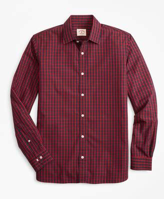 Brooks Brothers Tartan Nine-to-Nine Spread Collar Shirt