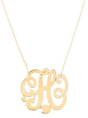 Jennifer Zeuner Jewelry Emily Large Swirly Initial H Pendant Necklace
