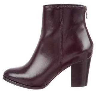 The Kooples Leather Round-Toe Ankle Boots w/ Tags