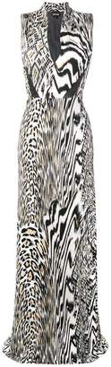 Just Cavalli animal print maxi dress