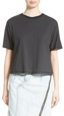 Women's 3.1 Phillip Lim Cotton & Silk Tee $225 thestylecure.com