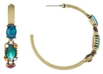 Free Press 33mm Vintage Crystal Hoop Earrings