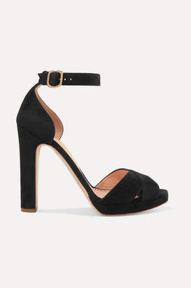 Rupert Sanderson Meadow Suede Platform Sandals - Black