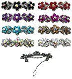 8-Pack - 8 Barrettes with French Clip Clasp and Sparkling Stones U86250-1338-8 $15 thestylecure.com