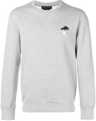 Alexander McQueen embroidered skull-patch sweatshirt