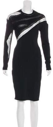 Alexandre Vauthier Bodycon Knee-Length Dress
