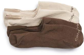 Calvin Klein 2-Pack Performance No-Show Socks