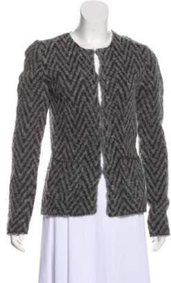 Les Copains Long Sleeve Wool Cardigan Grey Long Sleeve Wool Cardigan