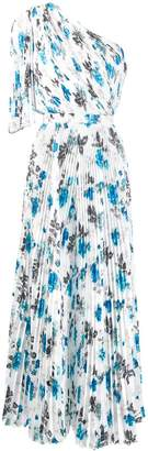 MSGM printed one-shoulder pleated jumpsuit