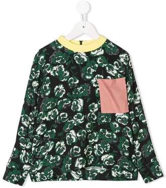 Marni asymmetric printed blouse