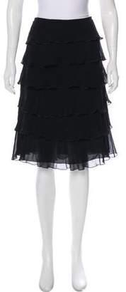 Armani Collezioni Ruffle Knee-Length Skirt