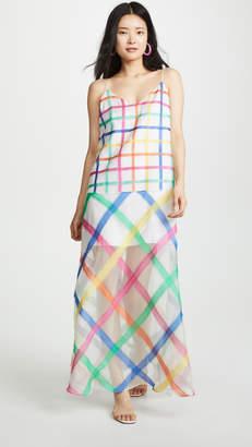Mira Mikati Rainbow Check Cami Dress