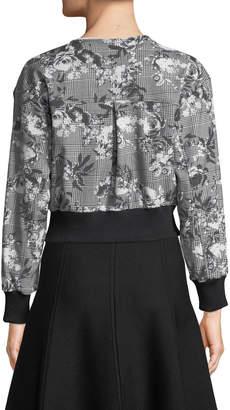Rachel Roy Baldwin Floral/Check Bomber Jacket