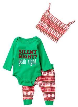 Baby Starters Silent Night Bodysuit, Pants, & Knot Hat Set (Baby)