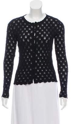Blumarine Open Knit Wool Cardigan