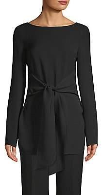 St. John Women's Silk Long-Sleeve Tie Top