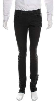 Givenchy Leather Trimmed Skinny Jeans