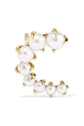 A.N.A Khouri - Marie 18-karat Gold Pearl Ear Cuff