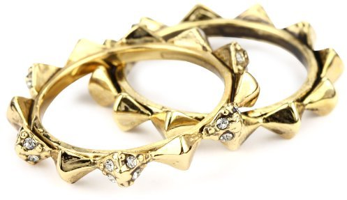 House of Harlow 1960 Gold-Plated Spike Stack Ring