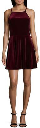 Speechless Sleeveless Skater Dress-Juniors
