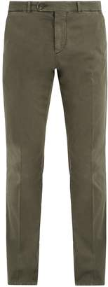 Brunello Cucinelli Straight-leg stretch-cotton chino trousers