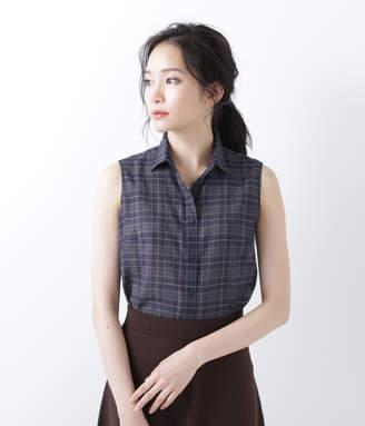 NEWYORKER women's 【店舗限定】ノースリーブチェックシャツ